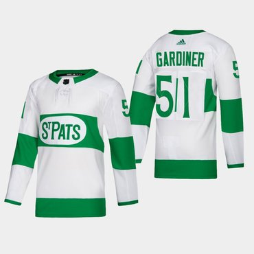 Men's Toronto Maple Leafs #51 Jake Gardiner Toronto St. Pats Road Authentic Player White Jersey