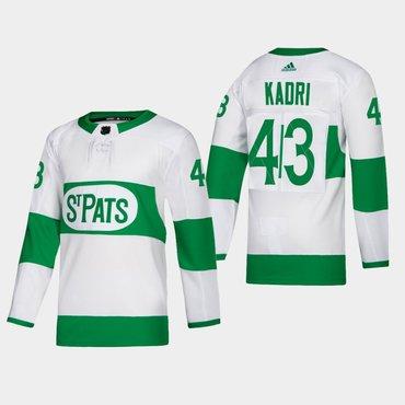 Men's Toronto Maple Leafs #43 Nazem Kadri Toronto St. Pats Road Authentic Player White Jersey