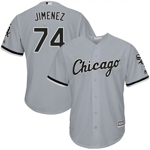 Men's Chicago White Sox #74 Eloy Jimenez Gray Cool Base Jersey