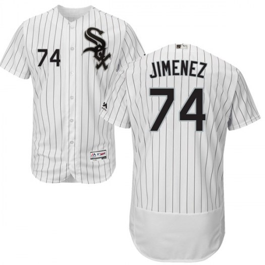 Men's Chicago White Sox #74 Eloy Jimenez White Flexbase Jersey