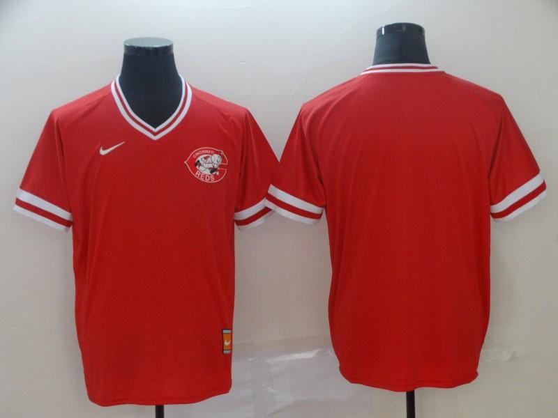 Men's Cincinnati Reds Blank Red Throwback Jersey