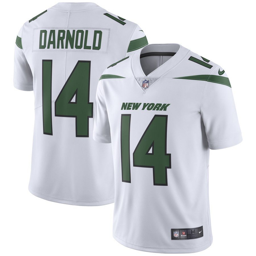 Men's Nike New York Jets 14 Sam Darnold White New 2019 Vapor Untouchable Limited Jersey