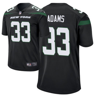 Men's Nike New York Jets 33 Jamal Adams Black New 2019 Vapor Untouchable Limited Jersey