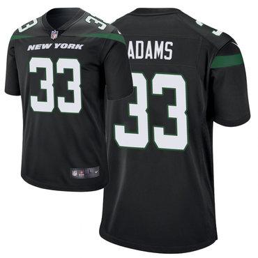 Youth Nike Jets 33 Jamal Adams Black New 2019 Vapor Untouchable Limited Jersey