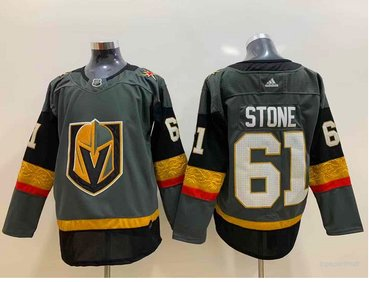 Adidas Vegas Golden Knights #61 Mark Stone Grey Home Authentic Stitched NHL Jersey