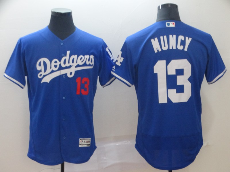 Men's Los Angeles Dodgers 13 Max Muncy Royal Flexbase Jersey
