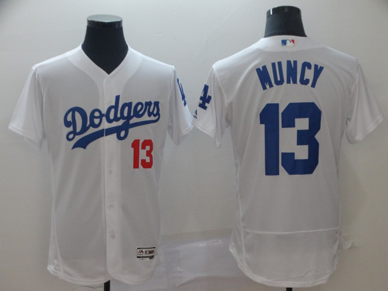 Men's Los Angeles Dodgers 13 Max Muncy White Flexbase Jersey