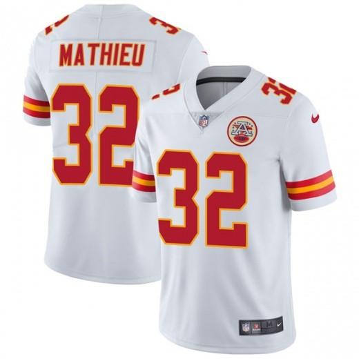 Men's Kansas City Chiefs 32 Tyrann Mathieu White Vapor Untouchable Limited Jersey