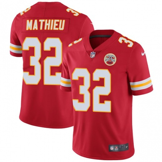 Men's Kansas City Chiefs 32 Tyrann Mathieu Red Vapor Untouchable Limited Jersey