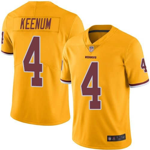 Men's Nike Washington Redskins 4 Case Keenum Color Rush Gold Limited Jersey