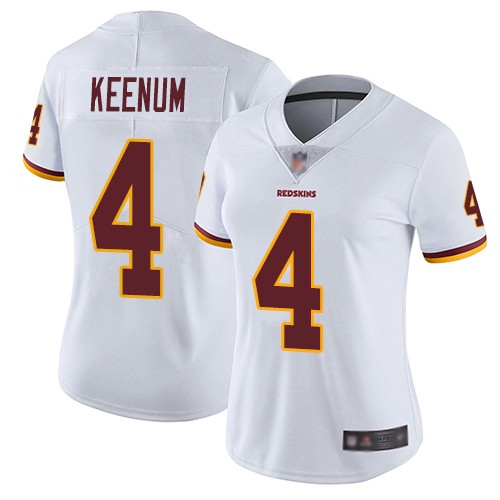Women Nike Washington Redskins 4 Case Keenum White Vapor Untouchable Limited Jersey
