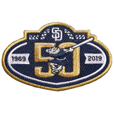MLB San Diego Padres 50th anniversary Navy Patch
