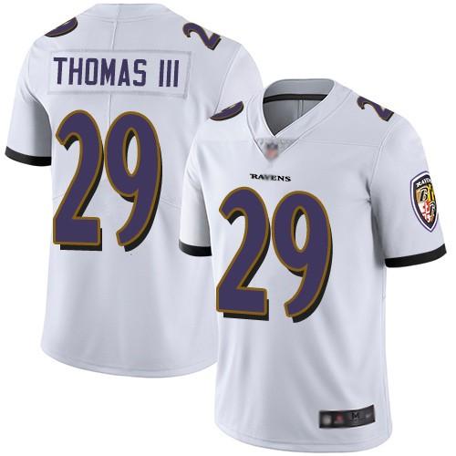 Nike Ravens 29 Earl Thomas III White Vapor Untouchable Limited Jersey