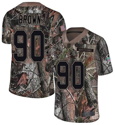 Men's New Orleans Saints #90 Malcom Brown Camo Men's Stitched Football Limited Rush Realtree Jersey