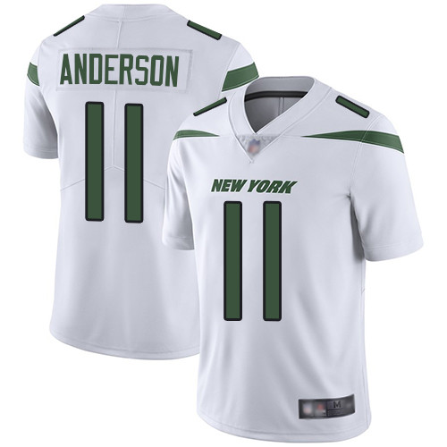 New York Jets #11 Robby Anderson White Men's Stitched Football Vapor Untouchable Limited Jersey