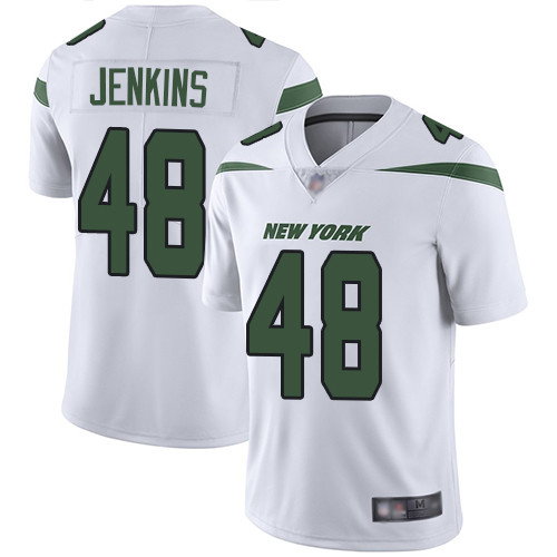 New York Jets #48 Jordan Jenkins White Men's Stitched Football Vapor Untouchable Limited Jersey