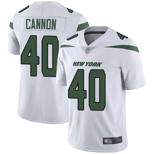 New York Jets #40 Trenton Cannon White Men's Stitched Football Vapor Untouchable Limited Jersey