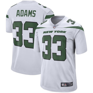 Size XXXXXXL Men's Nike New York Jets 33 Jamal Adams White New 2019 Vapor Untouchable Limited Jersey