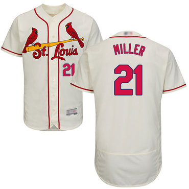 Men's St. Louis Cardinals #21 Andrew Miller Cream Flexbase Authentic Collection Stitched Baseball Jersey
