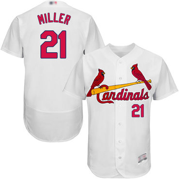 Men's St. Louis Cardinals #21 Andrew Miller White Flexbase Authentic Collection Stitched Baseball Jersey