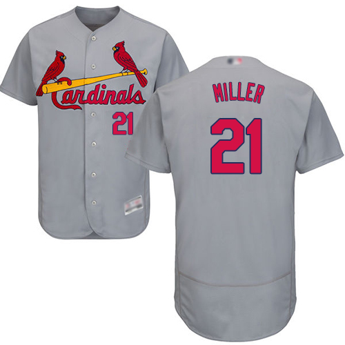 Men's St. Louis Cardinals #21 Andrew Miller Grey Flexbase Authentic Collection Stitched Baseball Jersey