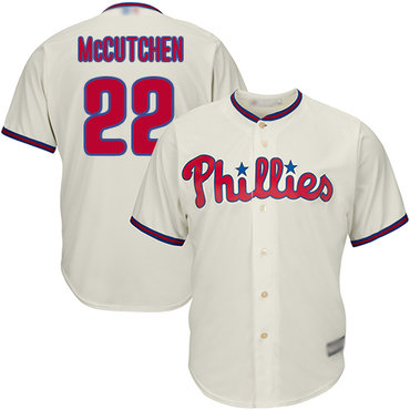 Men's Philadelphia Phillies #22 Andrew McCutchen Cream New Cool Base Stitched Baseball Jersey