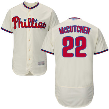 Men's Philadelphia Phillies #22 Andrew McCutchen Cream Flexbase Authentic Collection Stitched Baseball Jersey