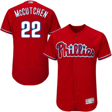 Men's Philadelphia Phillies #22 Andrew McCutchen Red Flexbase Authentic Collection Stitched Baseball Jersey
