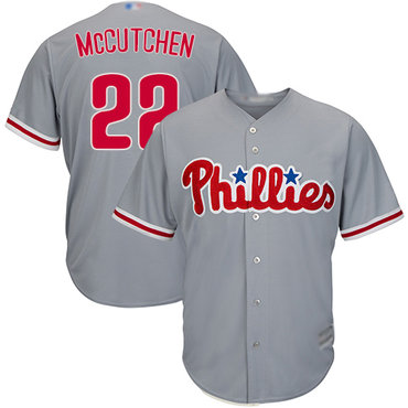 Men's Philadelphia Phillies #22 Andrew McCutchen Grey New Cool Base Stitched Baseball Jersey