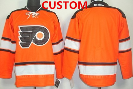 Custom Philadelphia Flyers Blank 2012 Winter Classic Orange Jersey