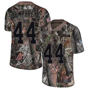 Ravens #44 Marlon Humphrey Camo Men's Stitched Football Limited Rush Realtree Jersey