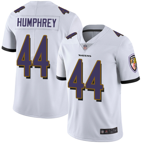 Ravens #44 Marlon Humphrey White Men's Stitched Football Vapor Untouchable Limited Jersey
