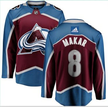 Adidas Colorado Avalanche #8 Cale Makar Burgundy Home Authentic Stitched NHL Jersey
