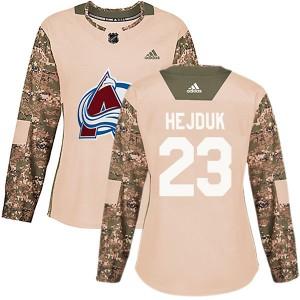 Women's Colorado Avalanche #23 Milan Hejduk Adidas Authentic Veterans Day Practice Camo Jersey