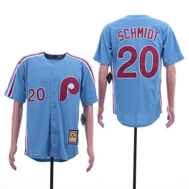 Men's Philadelphia Phillies 20 Mike Schmidt Blue Cooperstown Collection Jersey