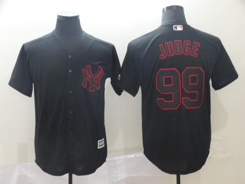 Men's New York Yankees 99 Aaron Judge Black Shadow Legend Jersey