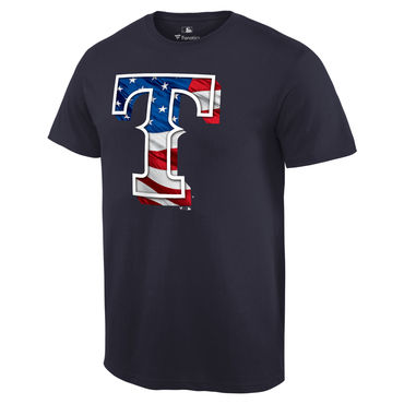 Men's Texas Rangers Navy Big & Tall Banner Wave T Shirt