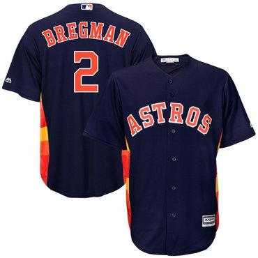 Men's Houston Astros 2 Alex Bregman Navy Cool Base Jersey