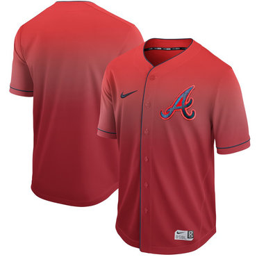 Men's Atlanta Braves Blank Red Drift Fashion Jersey