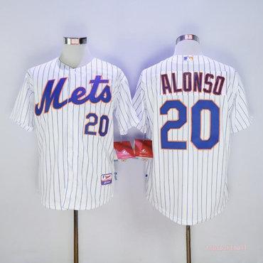 Men's New York Mets 20 Pete Alonso White Flexbase Jersey