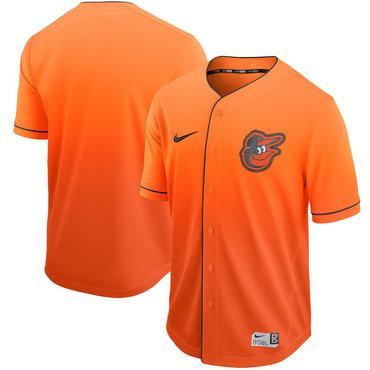 Men's Baltimore Orioles Blank Orange Drift Fashion Jersey