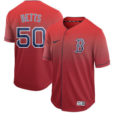 Men's Boston Red Sox 50 Mookie Betts Red Drift Fashion Jersey