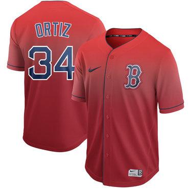 Men's Boston Red Sox 34 David Ortiz Red Drift Fashion Jersey