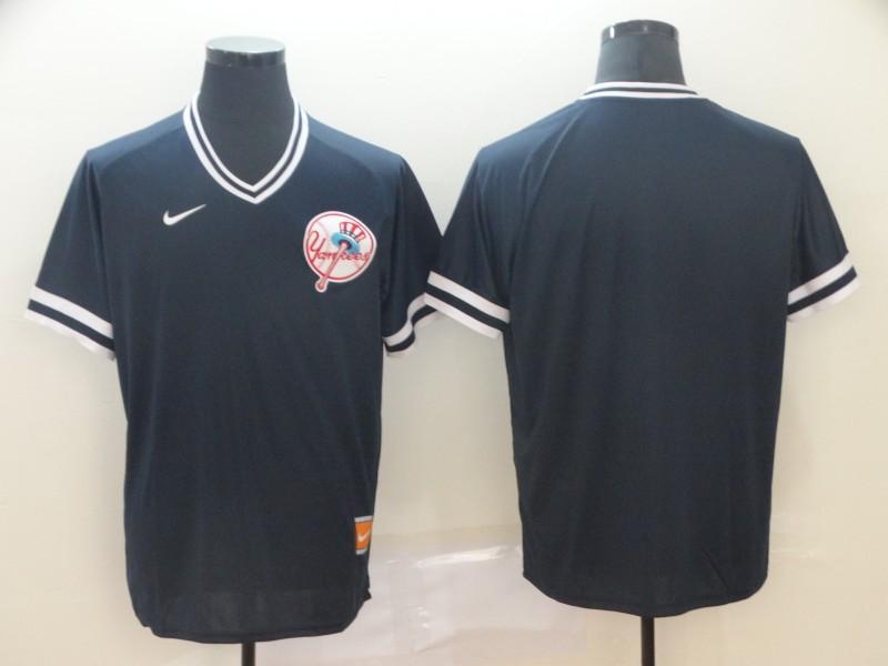 Men's New York Yankees Blank Black Throwback Jersey