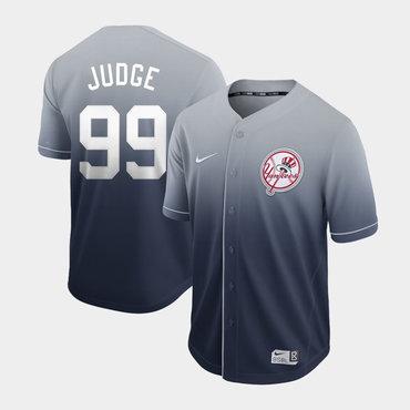 Men's New York Yankees 99 Aaron Judge Gray Drift Fashion Jersey