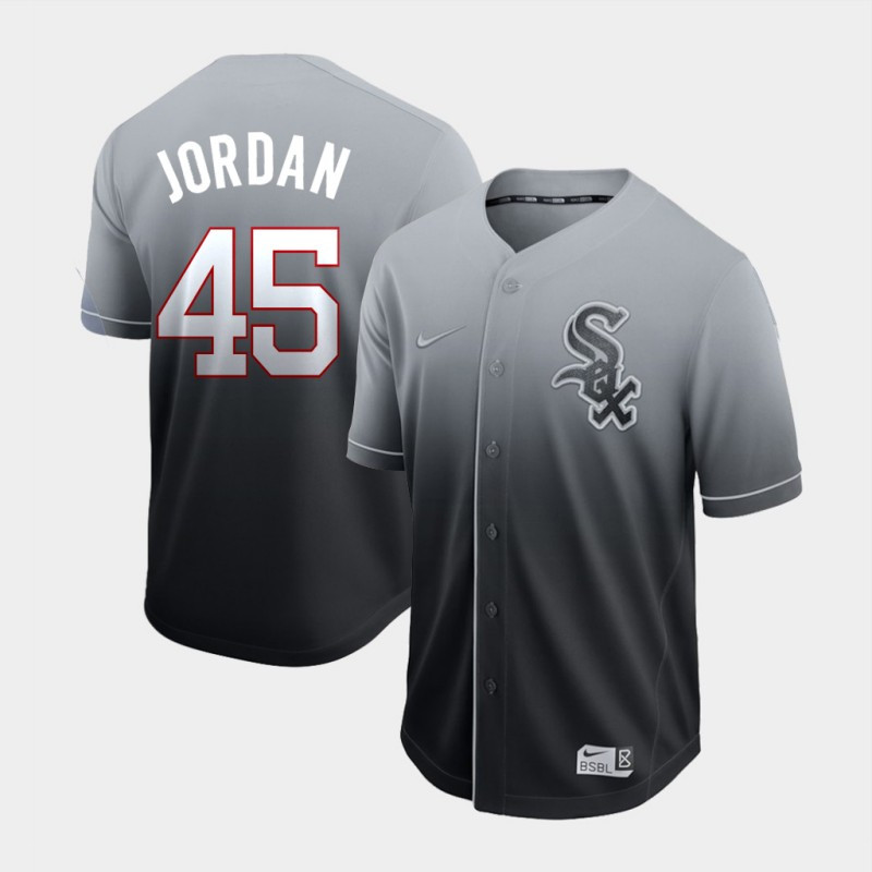 Men's Chicago White Sox 45 Michael Jordan Gray Drift Fashion Jersey
