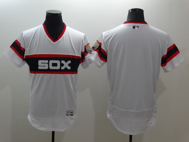 Men's Chicago White Sox Blank Flexbase Cooperstown Collection Player Jersey