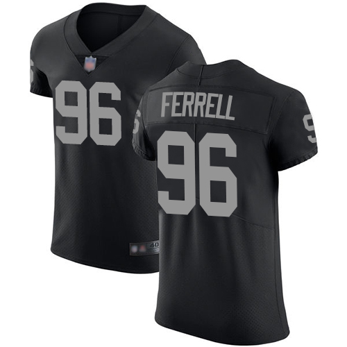 Raiders #96 Clelin Ferrell Black Team Color Men's Stitched Football Vapor Untouchable Elite Jersey