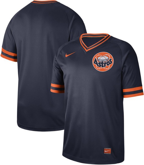 Astros Blank Navy Authentic Cooperstown Collection Stitched Baseball Jersey