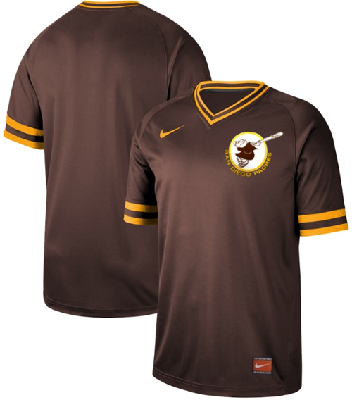 Padres Blank Brown Authentic Cooperstown Collection Stitched Baseball Jersey